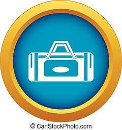 Road bag icon blue vector isolated