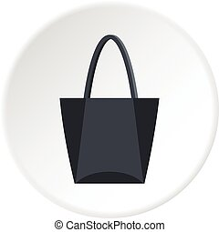 Road bag icon circle
