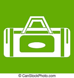 Road bag icon green