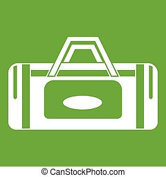 Road bag icon green