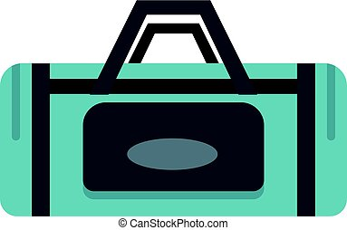 Road bag icon isolated