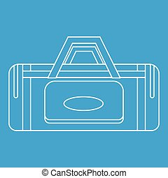 Road bag icon, outline style