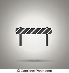 road barrier icon . striped road desk . Vector