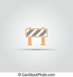 Road barrier isolated vector colored icon