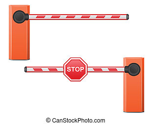 road barrier vector illustration isolated on white ...