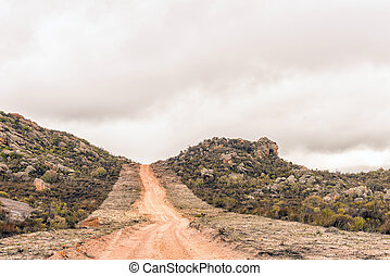Road between Eselbank and Wupperthal in the Cederberg Mountains