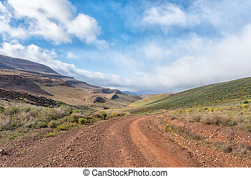Road between Matjiesrivier and Wupperthal in the Cederberg Mountains
