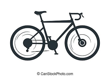 Road bicycle vector silhouette illustration
