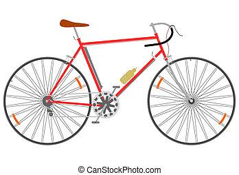Fast road bike in retro style.