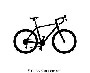 Road Bike isolated on white background