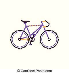 Road bike, modern bicycle vector Illustration