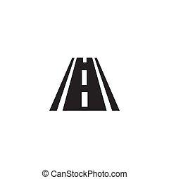 road black icon on white background