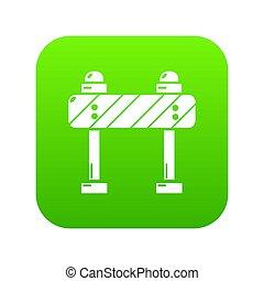 Road block icon green