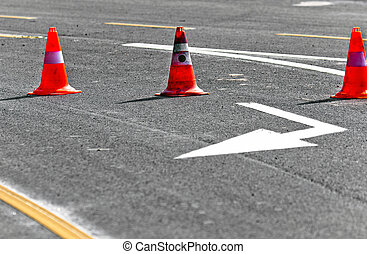 Road block with lanes