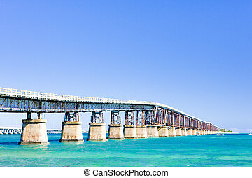 Florida Keys, Florida, USA - road bridge connecting Florida...
