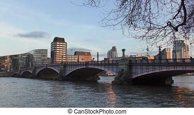 Road bridge on the river.