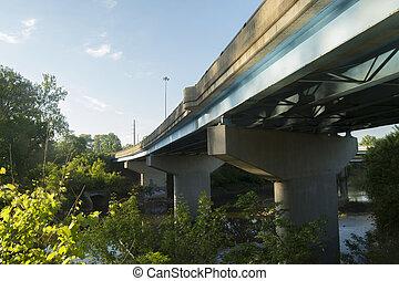 Road bridge over river