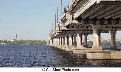 Road Bridge Over the River - Road bridge across the Dnieper...