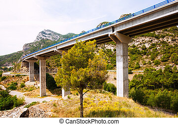 Road bridges in the mountains.  Catalonia
