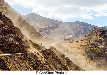 Road Building Horizontal - Road Building In Ecuadorian Andes...