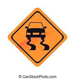 road car warning sign transportation icon vector graphic