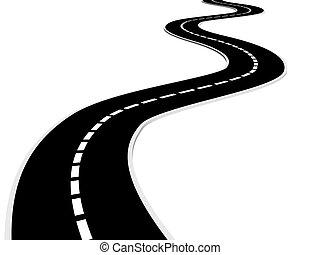 Road - Isolated asphalt road - 3d render