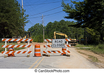 Road Closed and Equipment