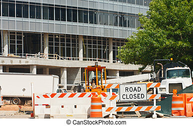 Road Closed at Construction Site