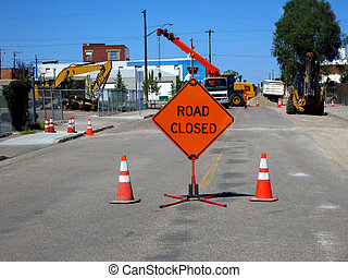 Road Closed Construction