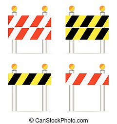 road closed sign vector illustration