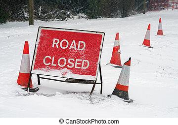 Road Closed Snow