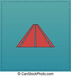 Road computer symbol