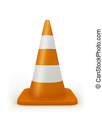 Road cone frontal - Road cone in frontal view