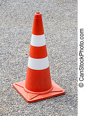 road cone on the asphalt