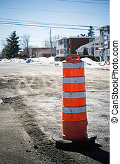 road cone road repair - road cone on road repair Sorel-Tracy...