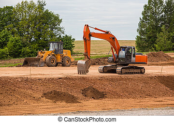 road construction equipment and construction of suburban highway