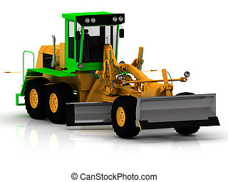 Road construction grader