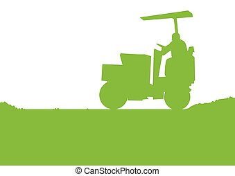 Road Construction machinery vector background illustration