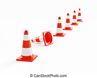 road construction on a white background