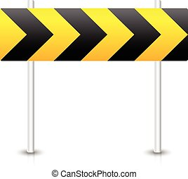 Road construction road sign. Roadblock, bypass, diversion, ...