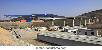 Road construction site - Image of a road construction site.