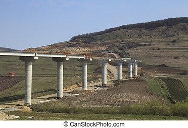 Road construction site