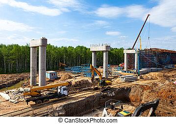 Road construction - Transport interchange construction in ...