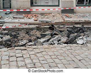road construction zone