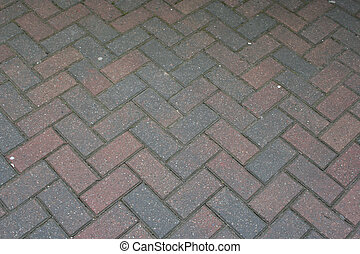 road covered in bricks background