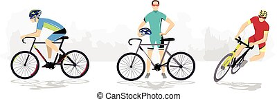 Road cycling sport.