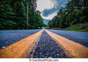 road double lane perspective