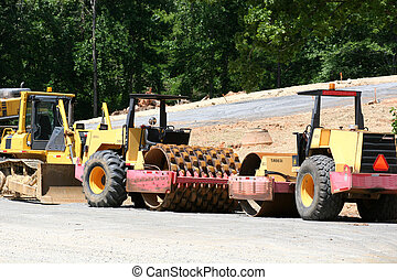 Road Equipment - Road construction heavy equipment
