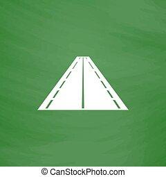 Road flat icon