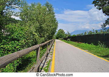 road for bicycles